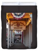 Virginia City Signs Duvet Cover