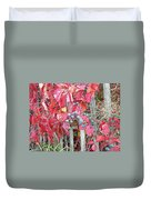 Virginia Creeper Fall Leaves And Berries Duvet Cover