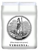Virginia State Seal Duvet Cover