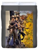 Virginia To Her Sons At Gettysburg - War Fighters - Band Of Brothers 1a Duvet Cover