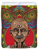 Visionary Gandhi Duvet Cover