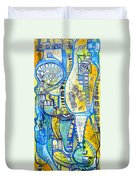 Visions Of Perceptive Elements Duvet Cover