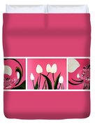 Visions Of Springtime - Abstract - Triptych Duvet Cover