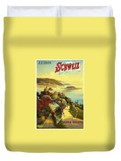 Visit Switzerland 1895 Duvet Cover by Mountain Dreams