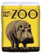 Visit The Philadelphia Zoo Duvet Cover