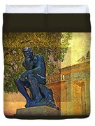 Visit To The Thinker Duvet Cover