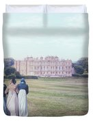 visiting Mr Darcy Duvet Cover by Joana Kruse