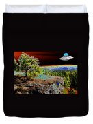 Visiting Rimrock In Spokane Duvet Cover