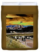 Visiting Spokane Duvet Cover