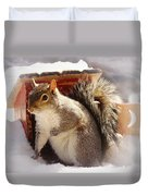 Visiting The Outhouse Duvet Cover