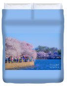 Visitors To The Blooms On The Basin Duvet Cover