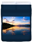 Vistula River Sunset Duvet Cover