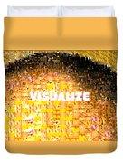 Visualize Gold Duvet Cover
