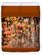 Vitaceae Family Ivy Wall Abstract Duvet Cover