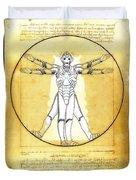Vitruvian Cyberman Duvet Cover