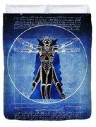Vitruvian Cyberman In Deep Space  Duvet Cover