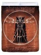 Vitruvian Cyberman On Mars Duvet Cover