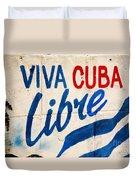 Viva Cuba Libre Sign Duvet Cover
