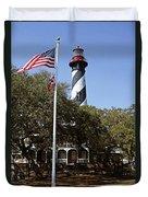 Viva Florida - The St Augustine Lighthouse Duvet Cover by Christine Till