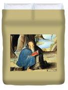 Vivarini's Saint Jerome Reading Duvet Cover