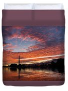 Vivid Skyscape - Summer Sunset At Toronto Beaches Marina Duvet Cover