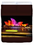 Vivid Sydney By Kaye Menner - Opera House ... Triangles Duvet Cover