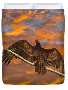 Vivid Vulture Duvet Cover by Al Powell Photography USA