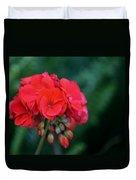 Vividly Red Geranium Duvet Cover