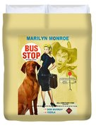 Vizsla Art Canvas Print - Bus Stop Movie Poster Duvet Cover