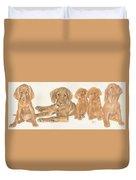 Vizsla Puppies Duvet Cover