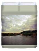 Vltava View Revisited - Prague Duvet Cover
