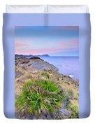 Volcanic Desert At Sunset Duvet Cover