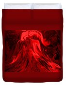 Red Volcanic Dreams Duvet Cover