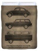 Volkswagen Advertisement Duvet Cover