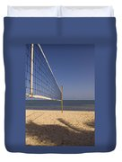 Vollyball Net On The Beach Duvet Cover