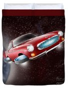 Volvo P1800 Goes Back To The Future Duvet Cover