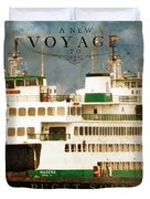 Voyage To Puget Sound Duvet Cover