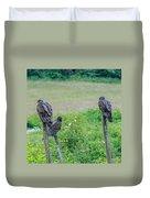Vulture Fence Line 3 Duvet Cover