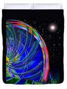 Fun On Planet X Duvet Cover