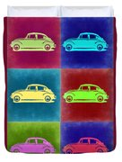 Vw Beetle Pop Art 2 Duvet Cover by Naxart Studio