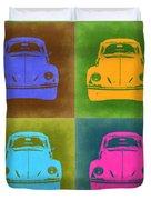 Vw Beetle Pop Art 6 Duvet Cover by Naxart Studio
