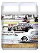 Vw Beetle Race Duvet Cover