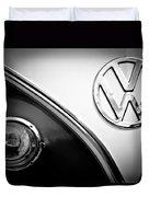 Vw Emblem Black And White Duvet Cover