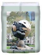 W T C Fountain Sphere Duvet Cover