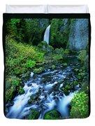 Wachlella Falls Columbia River Gorge National Scenic Area Oregon Duvet Cover