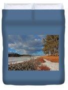 Wachusett Reservoir Frozen Duvet Cover