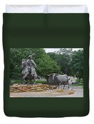 Waco - Branding The Brazos Duvet Cover by Christine Till