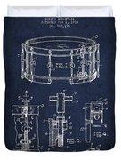 Waechtler Snare Drum Patent Drawing From 1910 - Navy Blue Duvet Cover