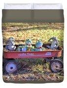Wagon Full Of Frogs Duvet Cover