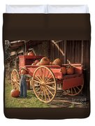 Wagon Full Of Pumpkins Duvet Cover